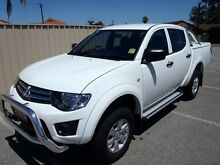 2015 Mitsubishi Triton MN MY15 GLX White 4 Speed Automatic Hendon Charles Sturt Area Preview