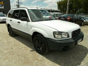 2003 Subaru Forester 79V MY03 X AWD White 5 Speed Manual Wagon