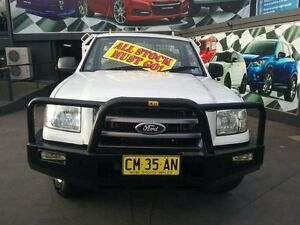 2007 Ford Ranger PJ XL (4x2) White 5 Speed Manual Cab Chassis Greenacre Bankstown Area Preview
