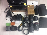 Nikon D90 Camera with 5 Lenses / Big Bundle must check lots of props and accessories