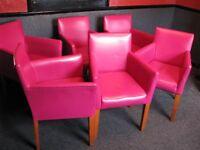 Pink Tub chairs PE6 8LQ or NG17 2QW