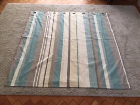 striped eyelet curtains as new