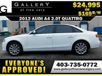 2012 Audi A4 2.0T QUATRO $169 bi-weekly APPLY NOW DRIVE NOW