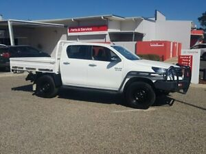 2017 Toyota Hilux GUN126R SR (4x4) Glacier White 6 Speed Automatic Dual Cab Chassis Warwick Southern Downs Preview
