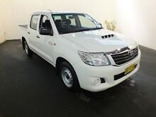2014 Toyota Hilux KUN16R MY14 SR Glacier White 5 Speed Manual Dual Cab Pick-up Clemton Park Canterbury Area Preview