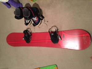 Used Snowboard and Boots for Sale