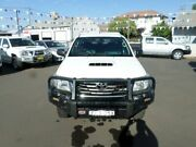 2012 Toyota Hilux KUN26R MY12 SR Double Cab White 5 Speed Manual Utility Young Young Area Preview