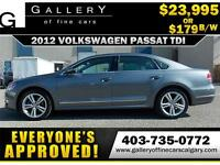 2012 Volkswagen Passat TDI $179 bi-weekly APPLY NOW DRIVE NOW