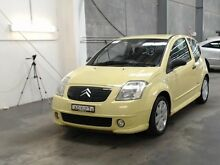 2004 Citroen C2 VTR VTR Yellow 5 Speed Sequential Manual Hatchback Beresfield Newcastle Area Preview