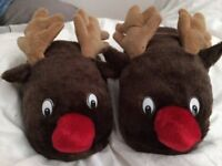 Rudolph Reindeer Indoor slippers - size 9 -10