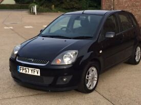Ford Fiesta 1.4 Ghia TDCI (2007) -61,000 miles-Diesel - Manual - 5 door - FFSH+New Cambelt - £30 Tax