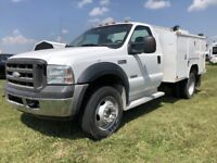 "2006 Ford Super Duty F-550 DRW XL Diesal 10"" box Red Deer Alberta Preview"