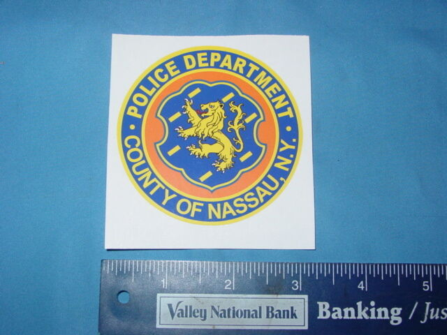 NASSAU COUNTY POLICE  NEW YORK PBA POLICE PD  NEW DECALS