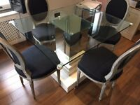 Glass Dining Table and Chairs - Great Condition