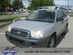 2003 Hyundai Santa Fe 4WD LOW KM 1 OWNER SERVICE RECORDS!