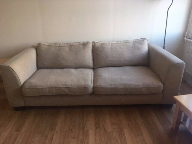 Great Condition White Material John Lewis Sofa