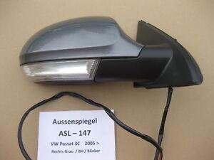 VW-PASSAT-3c-2005-2010-espejo-exterior-LATERAL-MIRROR-DERECHO-asl147