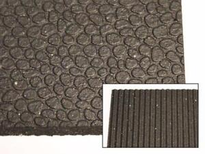 "Quality Revulcanized Rubber Mats - 4' x 6' x 1/2"" - For Anti-Fatigue, Work Areas, Rooftops, Construction and more!"