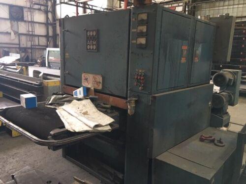 """36"""" Used AEM 3 Head Wide Belt Steel Sander 75-370/3HD R. B."""