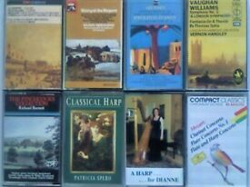 CSL ALBINONI, PACHELBEL MOZART CORELLI BACH HARP MUSIC AND MORE CLASSICAL PRERECORDED CASSETTE TAPES