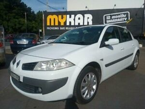 2008 Renault Megane X84 MY06 Upgrade Expression White 6 Speed Manual Sedan Islington Newcastle Area Preview