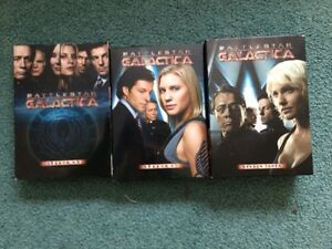 3 sets BATTLESTAR GALACTICA 14 DVD's  season 3 season 4.0 + 4.5.
