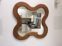 Organic shaped wooden mirror - PRICE REDUCED
