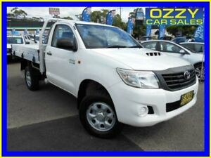 2012 Toyota Hilux KUN26R MY12 Workmate (4x4) White 4 Speed Automatic Cab Chassis