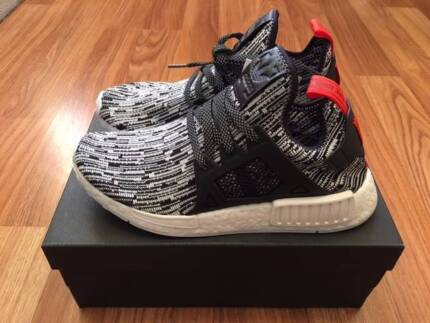 Adidas NMD XR1 PK S32216 white core black semi solar red