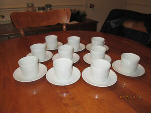 BRAND NEW WHITE ATHENA MADE IN ENGLAND IRONSTONE CUPS & SAUCERS London Ontario image 3