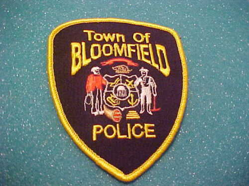 TOWN OF BLOOMFIELD WISCONSIN POLICE PATCH SHOULDER SIZE UNUSED