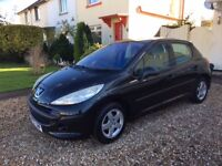 PEUGEOT 207 1.4 SE Panoramic Roof BLACK MOT SEPT 18