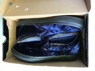 Vans Noon Goons Blue Velvet size 11, New, Open Box, Authenticated, Unworn