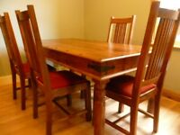 John Lewis Maharani 6 Seater Dining Table & 6 Chairs