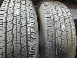 255//70R17 2 ONLY USED GENERAL A/S TIRES