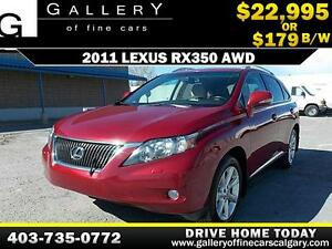 2011 Lexus RX350 AWD $179 bi-weekly APPLY TODAY DRIVE TODAY