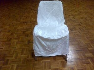High-Quality White Satin Chair Covers W/Laces- Excellent Shape!! Kitchener / Waterloo Kitchener Area image 3