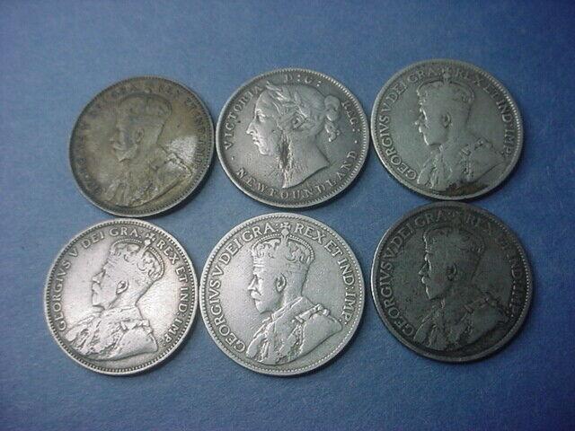 Canada Set of 6 Newfoundland 25 & 20 Cents 0.9738 ASW #36442
