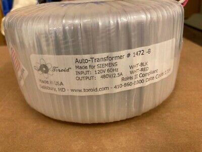 Toroid Auto Transformer 1472 - B  Input 120v To 480v Output Toroidal  Avel