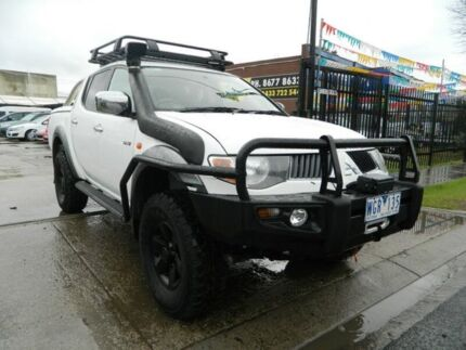 2007 Mitsubishi Triton ML MY08 GLX-R (4x4) White 4 Speed Automatic 4x4 Double Cab Utility Williamstown North Hobsons Bay Area Preview