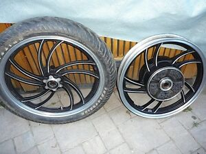 front and rear rims  from  1981 XV920RH Virago