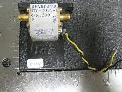 Avnet Mts Utc-2025 Microwave Amplifier 11db Gain 23dbm Output Power 10mhz - 2ghz