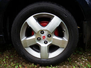Four Saturn Ion 3 Aluminum Mag Wheels with Tires 225/50R16