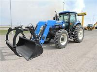 NEW 2014 New Holland TS6.140 with 845TL Loader & Grapple REDUCED