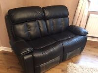 Roma 3 + 2 Bonded Leather Recliner Sofa set - Cupholders On the 3 seater - 1 year old- cost £699