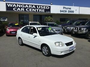 2004 Hyundai Accent LS 1.6 White 4 Speed Automatic Hatchback
