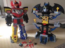 Imaginext Megazord & Batcave - Power Rangers & Batman