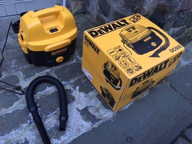 Dewalt DC500 vacuum cordless or mains powered as new