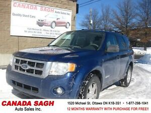 2008 FORD ESCAPE 4X4 ,LOADED V6  clean SUV 12M.WRTY+SAFETY $6990