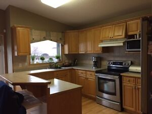 Oak Kitchen Cabinets and Island for sale